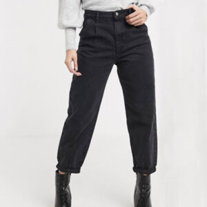 Womens Black Slouchy Jeans